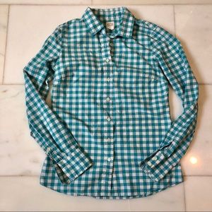 JCrew Turquoise Button Down